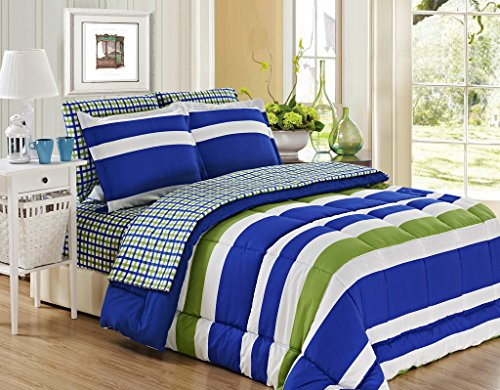 Price comparison product image U.S Polo Association 5-Piece Bed in a Bag - Twin (Blue/Green)
