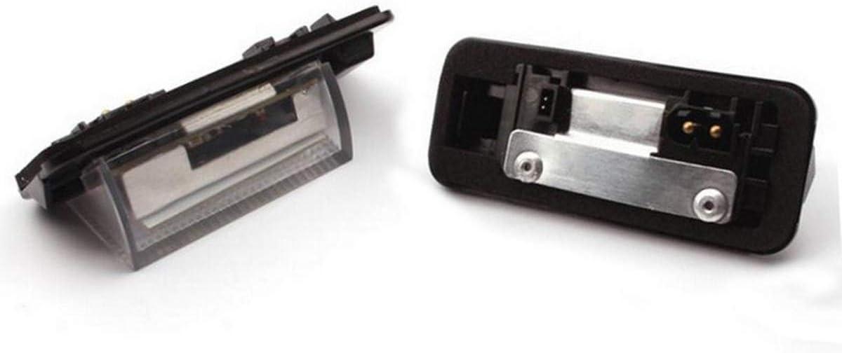 2pcs YUGUIYUN Eclairage Plaque dImmatriculation Automobile Lumi/ère Num/éro de Plaque 18 SMD Xenon Blanc LED Lampe pour E36 1992-1998