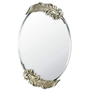 LIHY Miroir de Maquillage- Miroir Mural de vanité, décoration de Salle de Bains imperméable et respectueuse de l'environnement, Miroir créatif européen Moderne Minimaliste (Taille : 65 * 41cm)