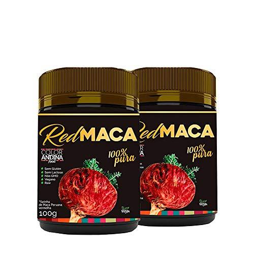Maca Peruana Red (vermelha), Color Andina Food, 2 potes de 100g