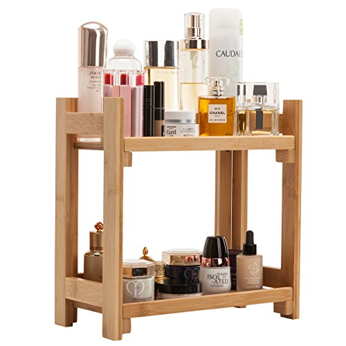 Gobam Cosmetic Organizer and Storage Shelf Multi-Function Large Makeup Organizer Holder,Ideal for Countertop, Assemble Easily, Gift for Mom & Wife, Natural ()