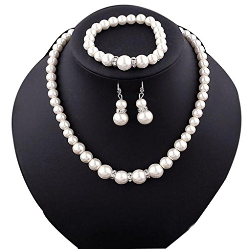 Necklace, Hatop Natural Freshwater Pearl Necklace Bracelet Earrings fashion Jewelry Set