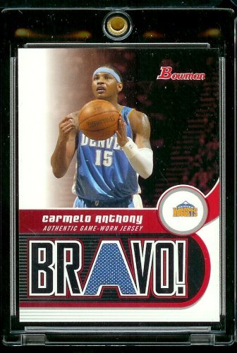 2005-06 Bowman Draft Picks & Prospects Bravo! #Carmelo Anthony Jersey Denver Nuggets Basketball Card - Mint Condition