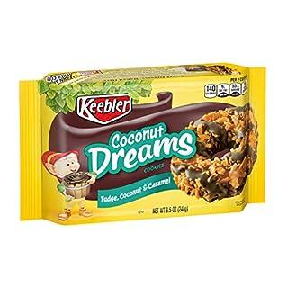 Keebler Coconut Dreams Cookies, Fudge, Caramel and Coconut, 8.5oz Tray