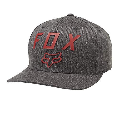 (Fox Men's Number 2 Flexfit Hat, Grey/Red, S/M)