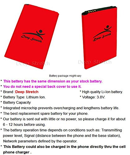 2400mAh Deep Stretch Rechargeable Battery for LG X Style L53BL Straight Talk/TracFone/Net10 Android Phone