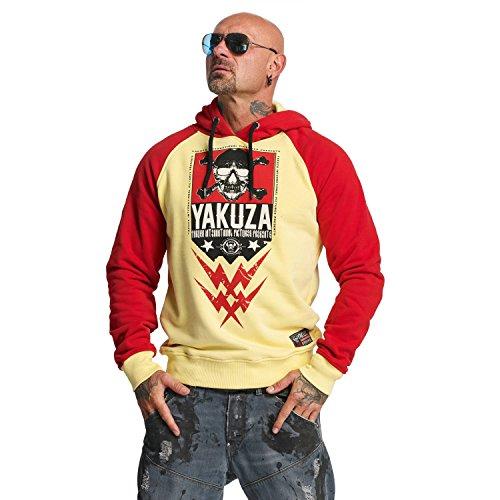 Yakuza Sweat Haut Yellow Vêtements Two Homme Skull Face rRwq6rxt