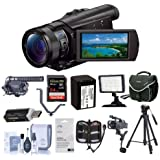 Sony FDR-AX100 4K Ultra HD Camcorder Upgrade Accessory Bundle #FDRAX100BB