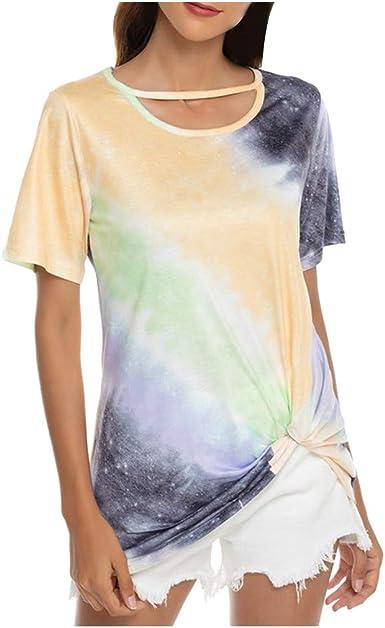 Camiseta Mujer, Verano Moda Manga Corta Casual Suelto Camisa ...