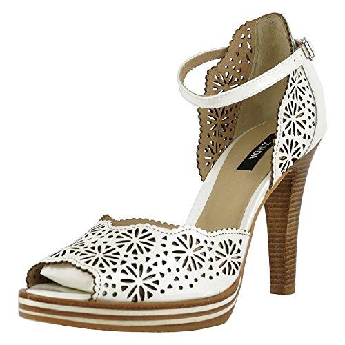 Heine Zapatos de Vestir de Piel Lisa Para Mujer Blanco Weiß