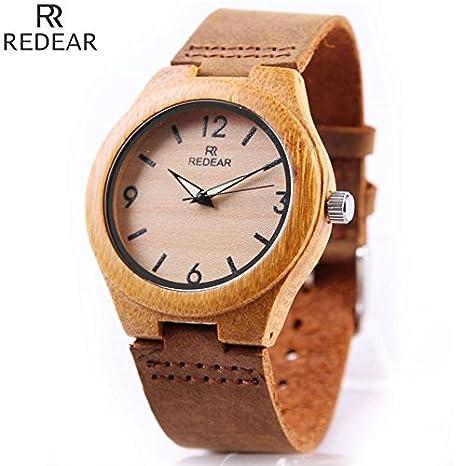 GXS dial digital de bambú / aguja luminosa / relojes de cuarzo / reloj de madera de bambú: Amazon.es: Deportes y aire libre