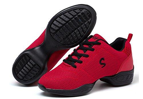 Scarpe donna da Xia casual Scarpe Qiu da mesh red Modern 35 Dance Sport ballo donna WX da Square traspirante Fitness Scarpe 39 in AUxqCwn