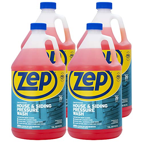 Zep House and Siding Pressure Wash Cleaner Concentrate 128 Ounce ZUVWS128 (Case of 4)