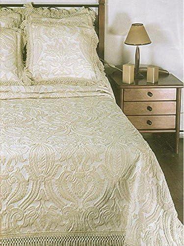 Colcha de algodón con tradicional con textura borlas en los bordes ...