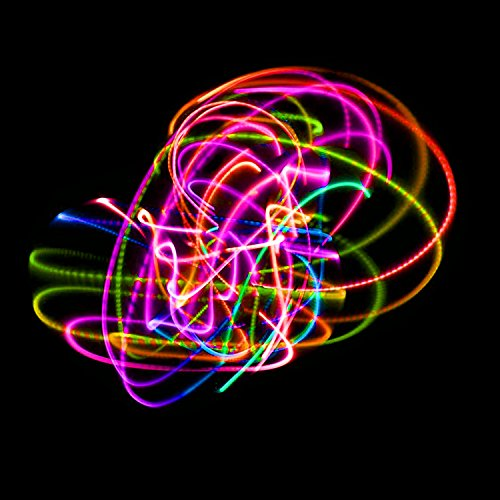 The Hoop Shop LED Hula Hoop - 14 Color Changing LED Lights - Multiple Sizes Available - Technicolor Prism (36) by The Hoop Shop (Image #2)