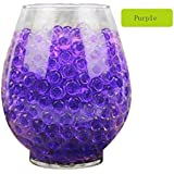 Water Beads,Vibola 5000 PCS Water Gel Beads Pearls for Vase Filler, Wedding Centerpiece, Home Decoration, Plants, Sensory Toy (Purple)