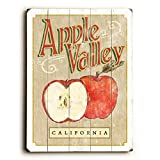 Red Apple (Personalized) 30''x40'' Planked Wood Sign Wall Decor Art