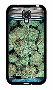 Clear Weed Mason Jar Plastic Phone Case Back Cover Samsung Galaxy S4 I9500
