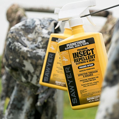 Sawyer Products SP649 Premium Permethrin Clothing Insect Repellent Trigger Spray, 12-Ounce