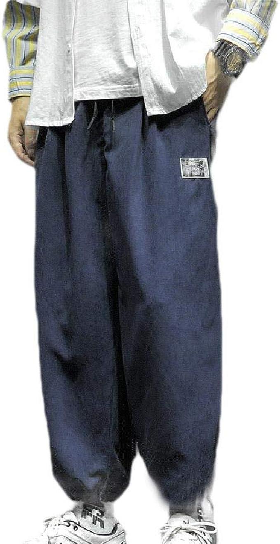 AngelSpace 男性プラスサイズドローストリングアスレチックフィットソリッドリラックスフィットジョガーパンツ