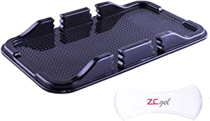 ZC GEL Cell Phone Holder for Car, Removable and Reusable Phone Holder with Heat Resistant and Damage Free Car Dashboard Sticky Gel Pads for Sunglasses, Keys, Coins and More