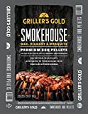 bbq smoker pellets - Griller's Gold Premium BBQ Pellets - Oak, Hickory, Mesquite Smokehouse Blend, 20 lb bag, All Natural Barbeque Smoker Pellets