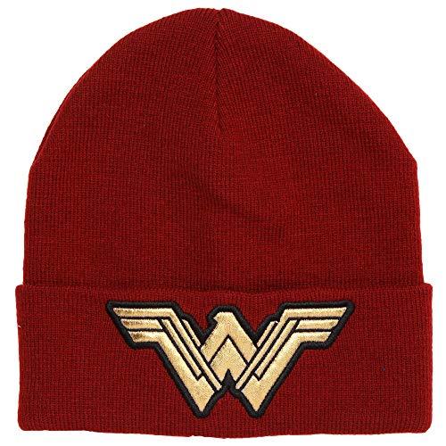 DC Comics Wonder Woman Logo Cuffed Adult Beanie