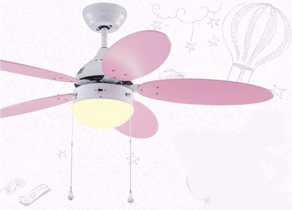 ZY * Ventilador de techo con dormitorio de lámpara Los niños creativos Ventilador de techo Luz de colores cálidos Control de pared Lámparas de iluminación y faroles Diámetro 106Cm Alto 38Cm