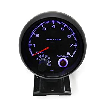 WINOMO coche tacómetro 3.75 Pulgada (Turbo Boost Gauge ...