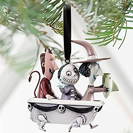 Disney Store Lock Shock And Barrel In A Bathtub Sketchbook Ornament 2011 The Nightmare Before Christmas