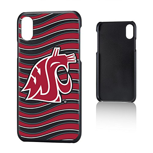 Keyscaper KSLMIX-0WST-WAVE01 Washington State Cougars iPhone X/XS Slim Case WSU Wave ()