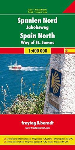 Spanien Nord - Jakobsweg, Autokarte 1:400.000 (freytag & berndt Auto + Freizeitkarten)
