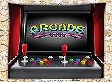 Video Games Fleece Throw Blanket Arcade Machine Retro Gaming Fun Joystick Buttons Vintage 80s 90s Electronic Throw