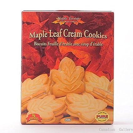 Amazon Com Pure Maple Cream Cookies 350g Grocery