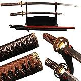 Shijian Maru Style Japanese Katana And Carbon Steel Wakizashi Two Swords Set