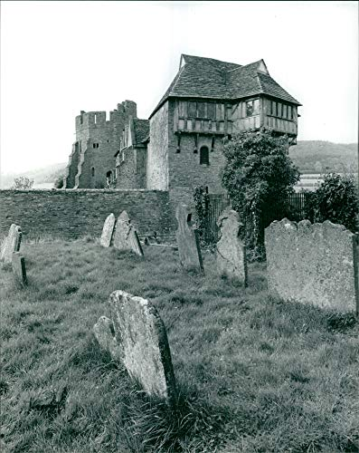 Vintage photo of Stokesay Castle, Shropshire.
