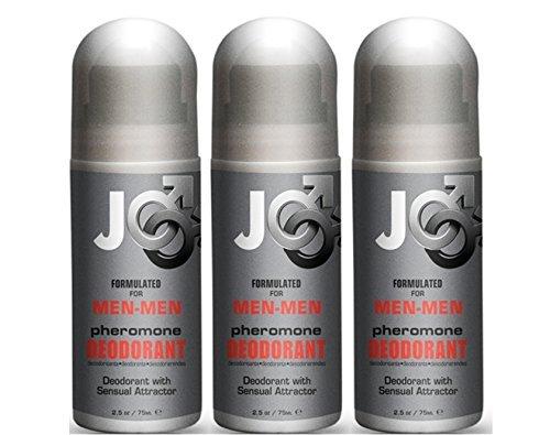 Système Jo phéromone sensuelle Roll sur déodorant pour homme - homme: taille 2,5 Oz (Pack de 3)