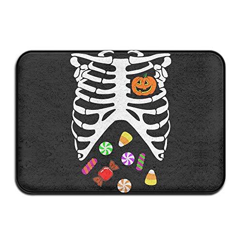 Heart of Pumpkin Halloween Candy-1 Indoor Outdoor Entrance Rug Non Slip Car Floor Mats Doormat Rugs for Home -