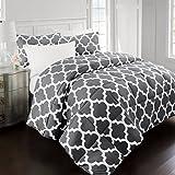 Alternative Comforter - Sleep Restoration 2200 Series LuxuryGoose Down Alternative Quatrefoil Comforter Set - Premium Hypoallergenic All Season Duvet - King/Cal King - Gray