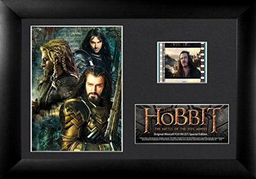 Limited Edition Collectible Movie Plaque - Trend Setters Hobbit The Battle of The Five Armies Fili Kili and Thorin Framed Film Cell, Mini