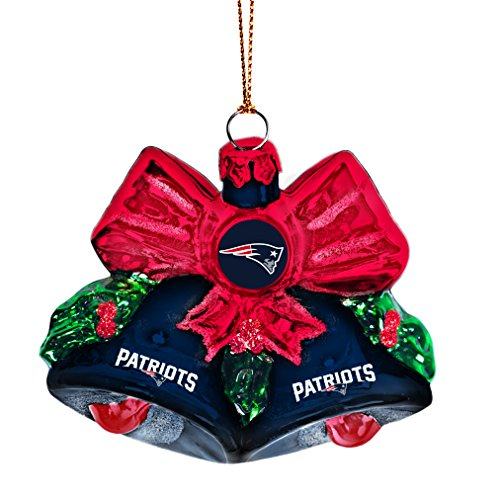 NFL New England Patriots Glitter Bells Ornament