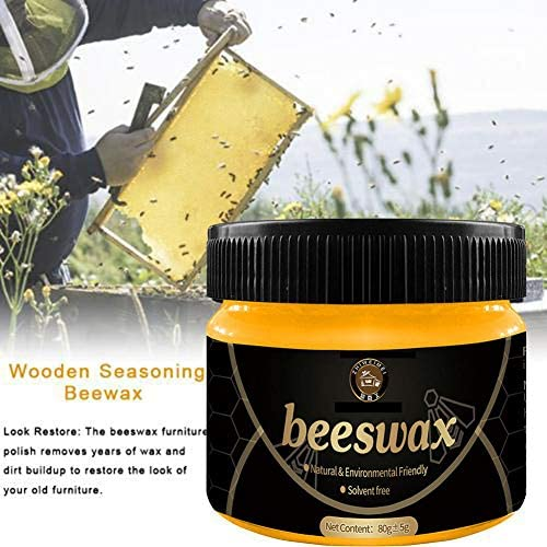 Chuanfeng Natürliches Bienenwachs für Holz, Möbelpflege, zum Entfernen von Kratzern, Fett, Schmutz auf bemalten Oberflächen, für Mahagoni-Möbel, Fußböden, Armbänder, Antiquitäten usw. companionable