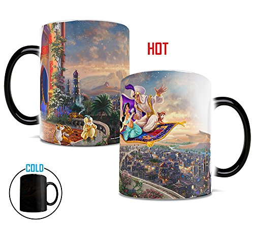 Morphing Mugs Thomas Kinkade Disney's Aladdin Painting Heat Reveal Ceramic Coffee Mug - 11 Ounces ()