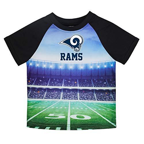 (NFL Los Angeles Rams Male Short sleeve Stadium Tee, Black,)