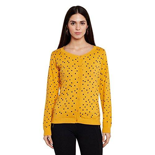 5d289f5be9c Honey by Pantaloons Women s Cardigan (110034006007 Mustard Large ...