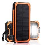Solar Charger, Zonhood 15000mAh Portable Solar Power Bank...
