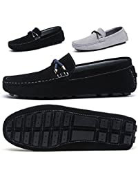 Mens Slip On Shoes Penny Loafers Moccasin Footwear Suede Driving Leather Moccasins Flat Black Boat Shoe