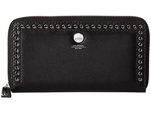 Lodis Accessories Women's Saratoga Perla Zip Wallet Black One Size ()