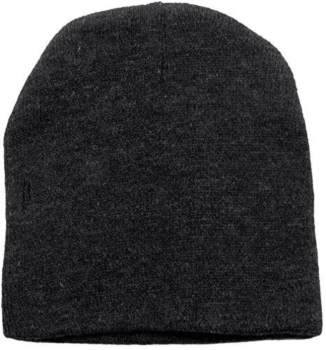 Simplicity Men & Women's Winter Solid Colored Ski Knit Beanie Hat Charcoal ()