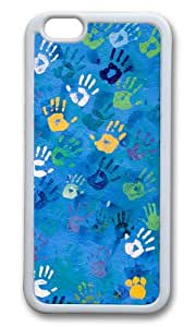 iPhone 6 Plus Case,VUTTOO iPhone 6 Plus Cover With Photo: Handprint Art For Apple iPhone 6 Plus 5.5Inch - TPU White